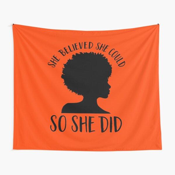 Black Pride Design pour les femmes - Melanin Queen - elle croyait qu'elle pouvait donc elle l'a fait - mois de l'histoire des Noirs - Black Girl Magic - Afro Tentures