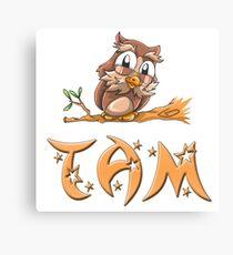 Tam Owl Canvas Print