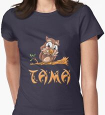Tama Owl Women's Fitted T-Shirt