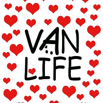 Van Life with Red Hearts by MyLovelyVan