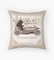 Vintage Newf Throw Pillow