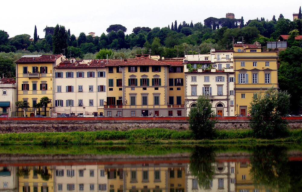 Italian Fiume Arno Reflections... by AnnetteW