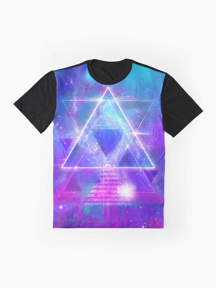 Alternate view of Space Vector 3 - Synth Galactic Vaporwave Graphic T-Shirt