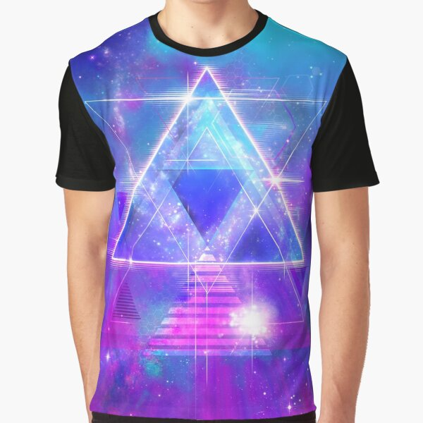 Space Vector 3 - Synth Galactic Vaporwave Graphic T-Shirt