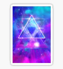 Space Vector 3 - Synth Galactic Vaporwave Glossy Sticker