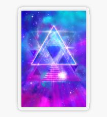 Space Vector 3 - Synth Galactic Vaporwave Transparent Sticker