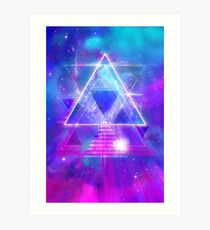 Space Vector 3 - Synth Galactic Vaporwave Art Print