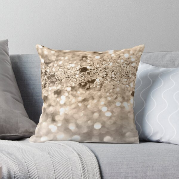 Gold Lady Glitter #1 #shiny #decor #art Throw Pillow