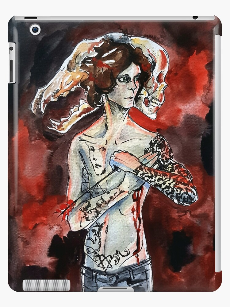 Ville Valo Arrow Skull Ipad Case Skin