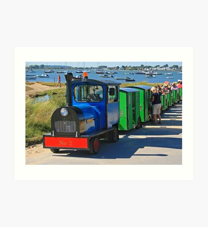 Hengistbury Head Land Train Art Print