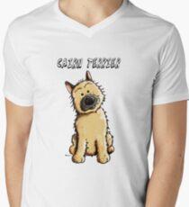 Funny Cairn Terrier Cartoon Men's V-Neck T-Shirt