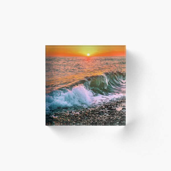 Sunset splash Acrylic Block