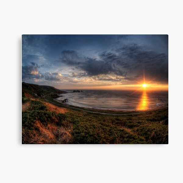 Sunset over Clonque Bay on Alderney Canvas Print