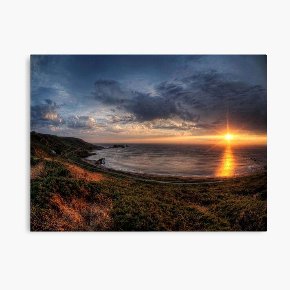Sunset over Clonque Bay on Alderney Canvas Print
