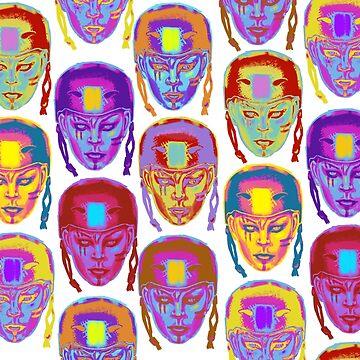 Roller Derby Girl Pattern by georgiagoddard