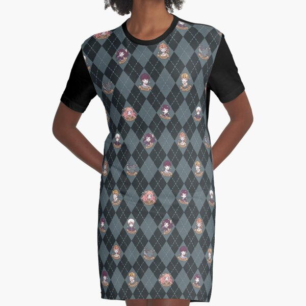 British Hooky (Blue) Graphic T-Shirt Dress