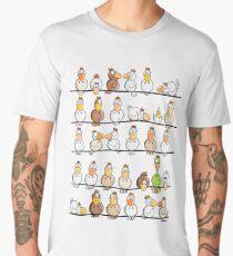 Funny Chicken Farm Cartoon Men's Premium T-Shirt