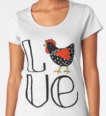 Fun Chicken Love Art  Women's Premium T-Shirt