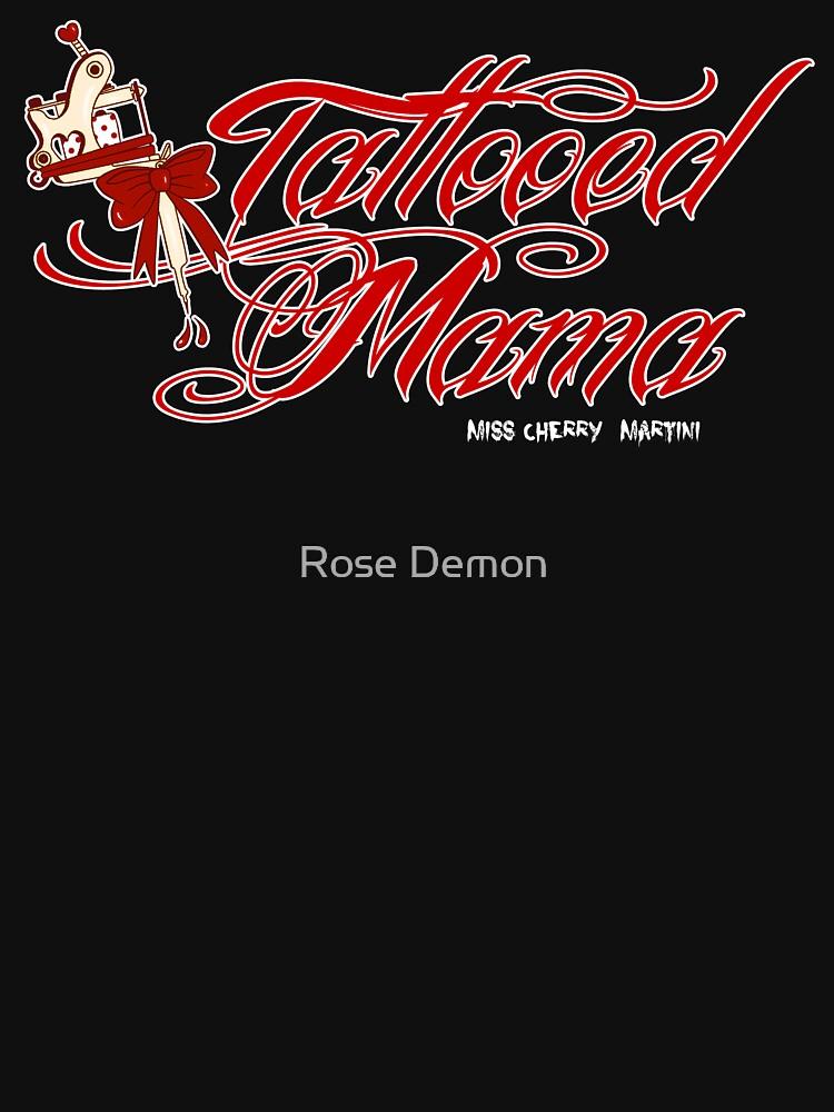 Mamá tatuada en rojo de CherryMartini