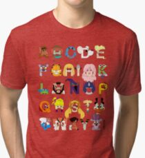 Child of the 80s Alphabet Tri-blend T-Shirt