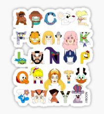 Child of the 80s Alphabet Sticker