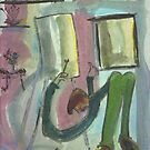 The Artist Paints His Window by Peter Searle ( the Elder )