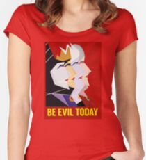 Be Evil Today Women's Fitted Scoop T-Shirt