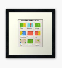 9 Ways to Divide Colorado - Prints Framed Print