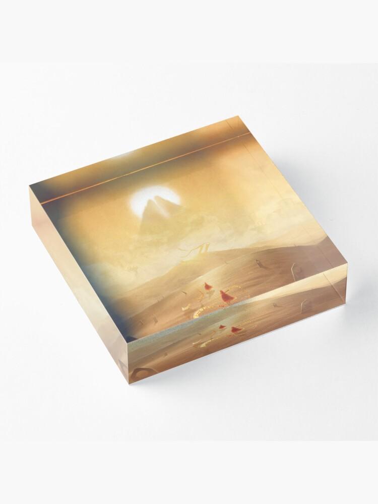 Alternate view of Travelers  Acrylic Block