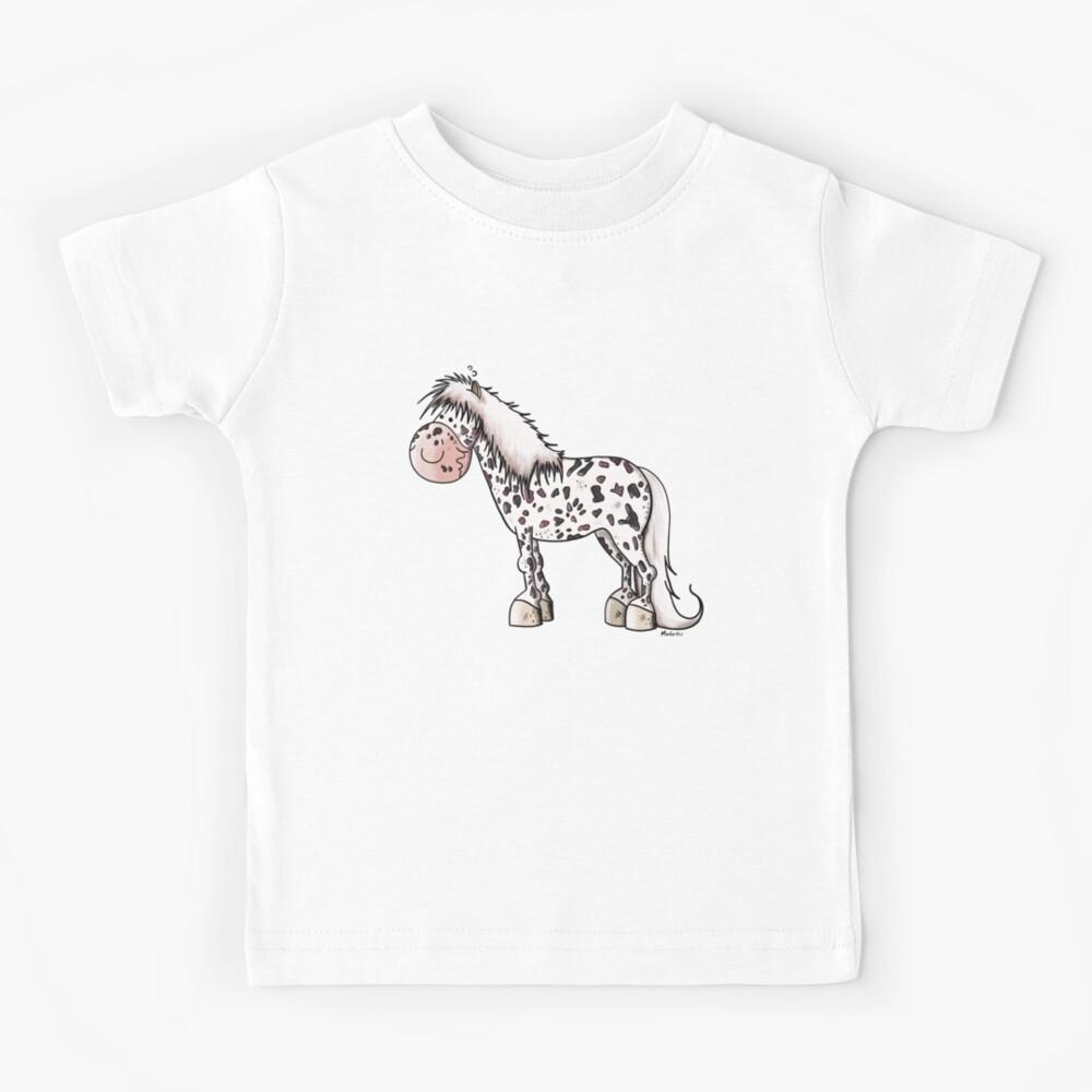 Enfants T-shirt bleu: Cheval 116//122 Taille 98//104 134//140 cavaliers chevaux poulain zoo