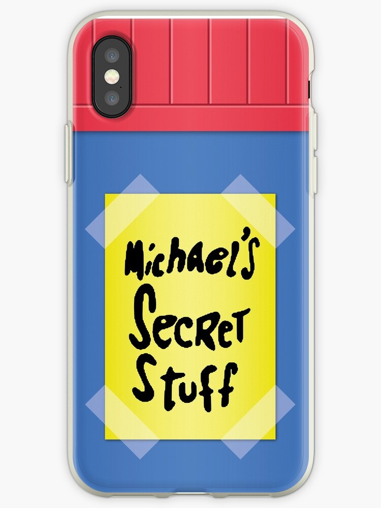 size 40 21918 45691 'Space Jam - Michael's Secret Stuff' iPhone Case by Sam Chaya