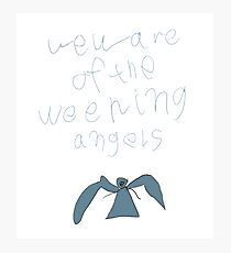 Weeping Angels Photographic Print