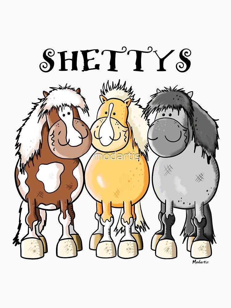 Niedlicher Shetland-Pony-Cartoon von modartis