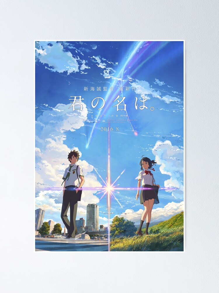 Alternate view of kimi no na wa // your name poster with text BEST RES Poster
