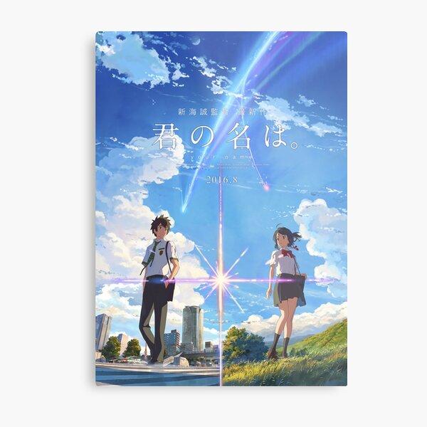 kimi no na wa // su cartel con el texto MEJOR RES Lámina metálica