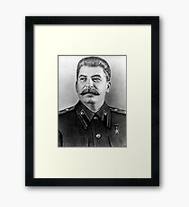 Stalin photo portrait Framed Print