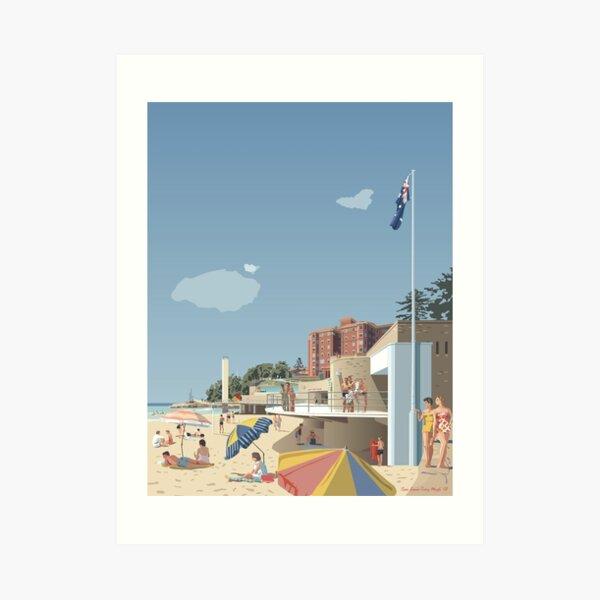 Manly Beach, Sydney 1951 Art Print