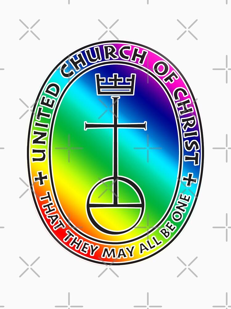 The UCC United Church of Christ Logo Rainbow 2 T shirt