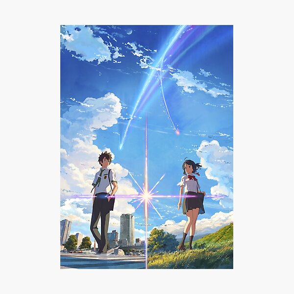 kimi no na wa // your name front textless BEST RES Photographic Print