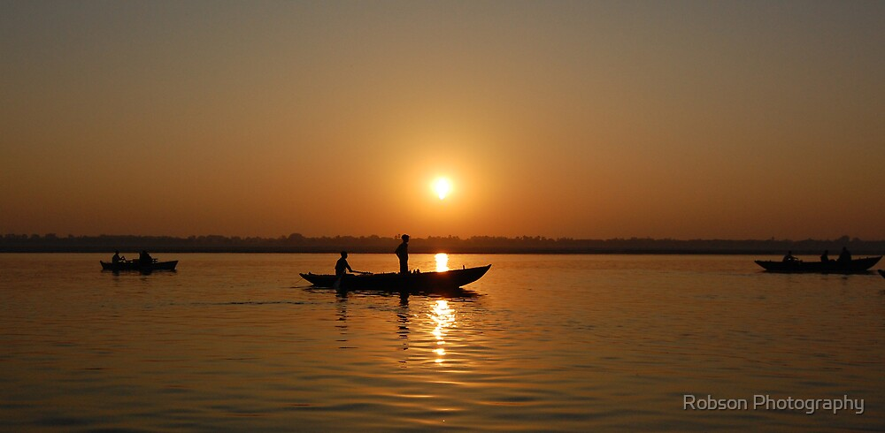 Ganges Sunrise by Robson Photography