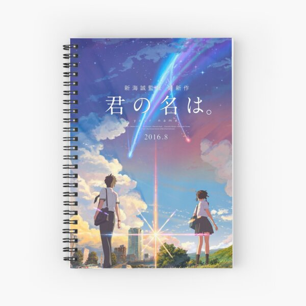 kimi no na wa // your name anime movie poster BEST RES Spiral Notebook
