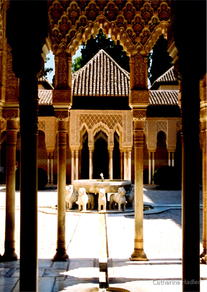 The Lion Fountain, Alhambra Palace by Catherine Hadler
