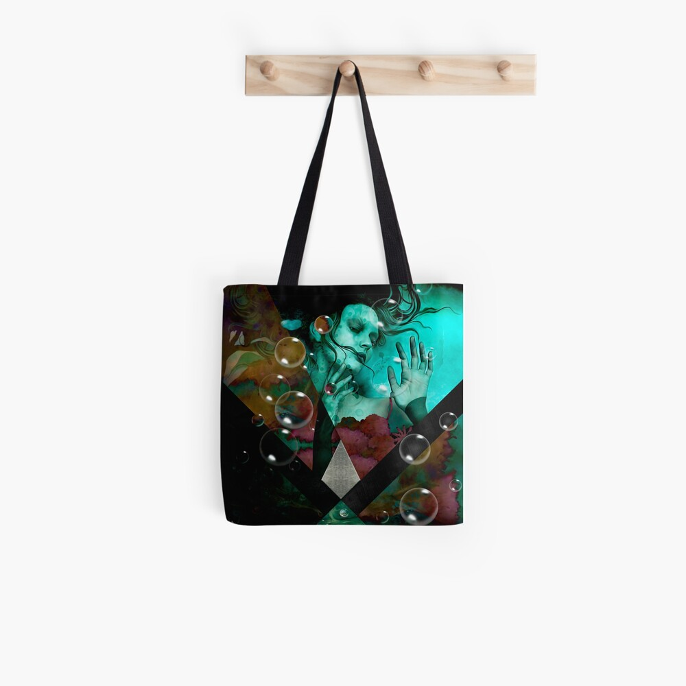 """The witch of the water forest""  Bolsa de tela"