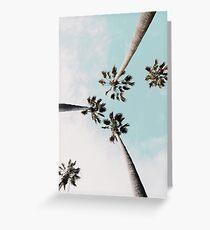 Palm trees Palms print Greeting Card