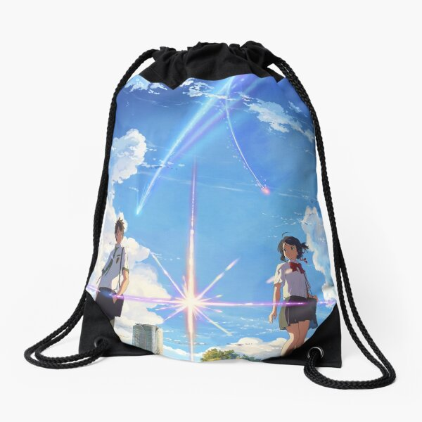 kimi no na wa // your name front textless BEST RES Drawstring Bag