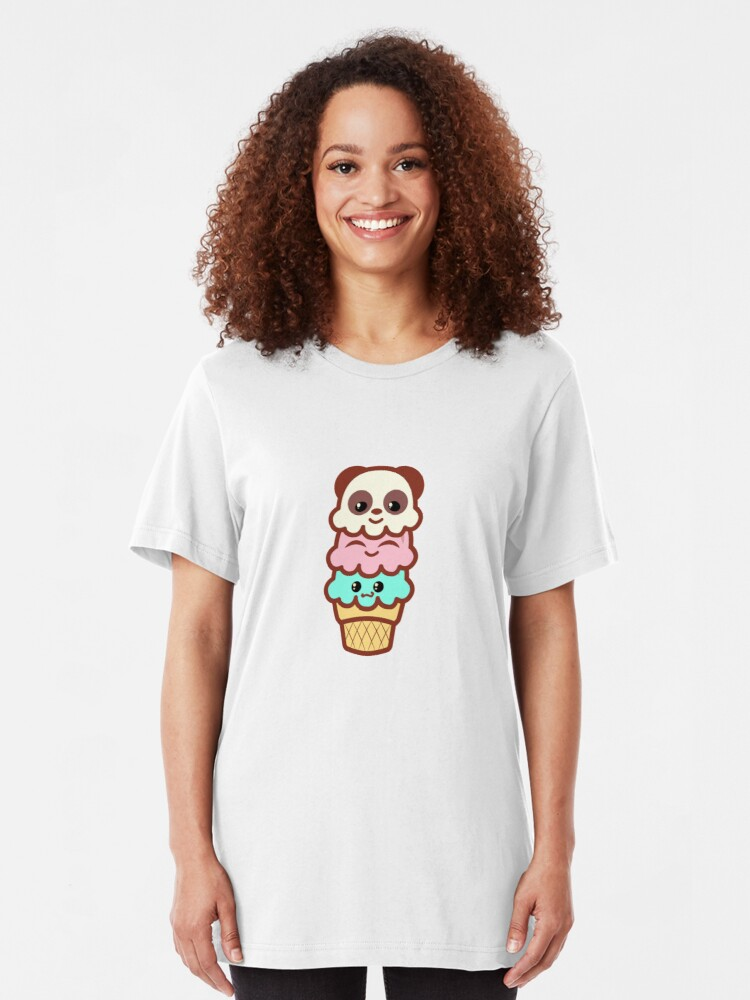 Ice Cream Cone Ladies Lady Fit Womens T Shirt