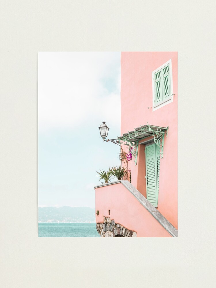 Alternate view of Ocean pink beach house Photographic Print