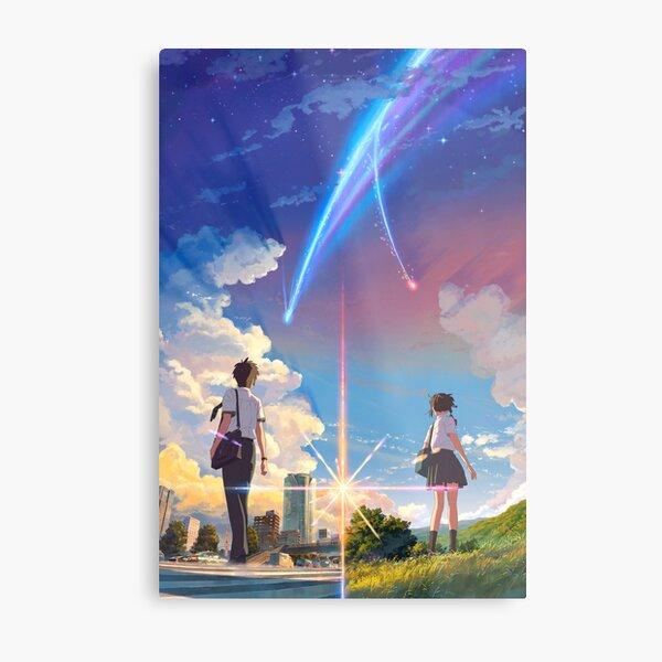 kimi no na wa // your name anime movie poster BEST RES Metal Print