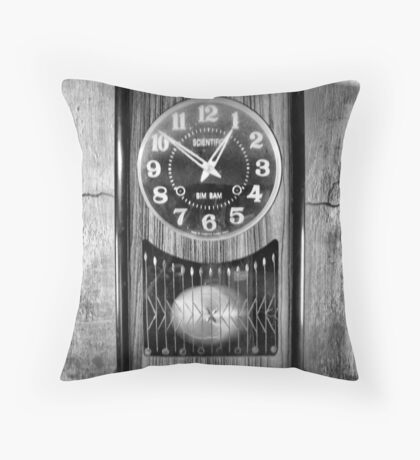 Old time keeper Throw Pillow