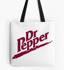 Dr Pepper 90s White Background Tote Bag